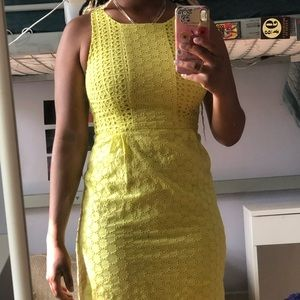 Yellow old navy summer dress size 0